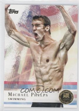 2012 Topps U.S. Olympic Team and Olympic Hopefuls Gold #100 - Michael Phelps