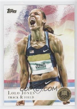 2012 Topps U.S. Olympic Team and Olympic Hopefuls Gold #70 - Lolo Jones
