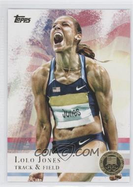 2012 Topps U.S. Olympic Team and Olympic Hopefuls Gold #70 - Lolo Jones