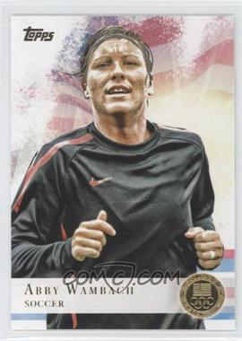 2012 Topps U.S. Olympic Team and Olympic Hopefuls Gold #93 - Abby Wambach