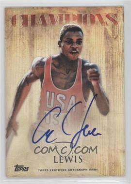2012 Topps U.S. Olympic Team and Olympic Hopefuls Olympic Champions Autographs #OCA-CL - Carl Lewis