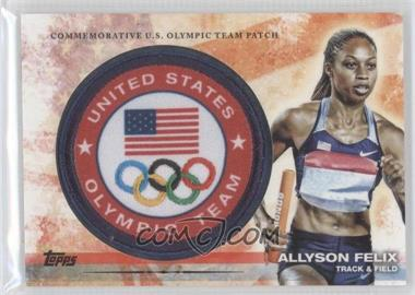 2012 Topps U.S. Olympic Team and Olympic Hopefuls Olympic Team Manufactured Patch #ULP-AF - Allyson Felix