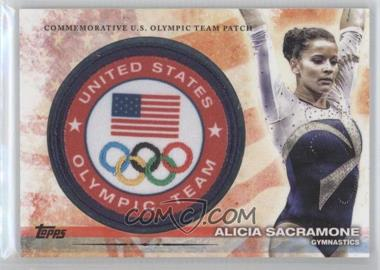 2012 Topps U.S. Olympic Team and Olympic Hopefuls Olympic Team Manufactured Patch #ULP-AS - Alicia Sacramone