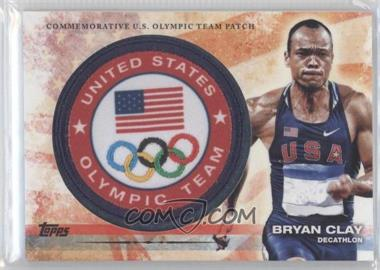 2012 Topps U.S. Olympic Team and Olympic Hopefuls Olympic Team Manufactured Patch #ULP-BC - Bryan Clay
