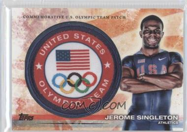 2012 Topps U.S. Olympic Team and Olympic Hopefuls Olympic Team Manufactured Patch #ULP-JS - Jerome Singleton