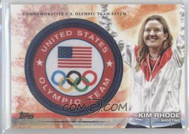 2012 Topps U.S. Olympic Team and Olympic Hopefuls Olympic Team Manufactured Patch #ULP-KR - Kim Rhode