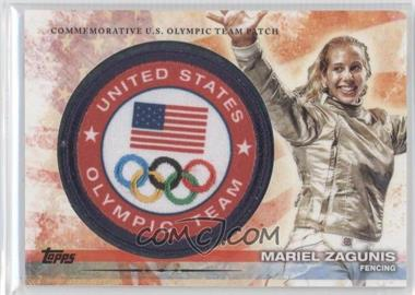 2012 Topps U.S. Olympic Team and Olympic Hopefuls Olympic Team Manufactured Patch #ULP-MZ - Mariel Zagunis