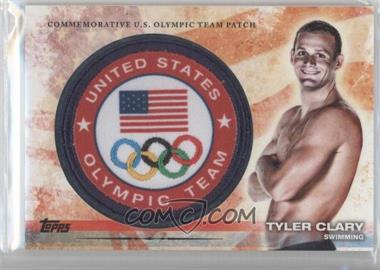 2012 Topps U.S. Olympic Team and Olympic Hopefuls Olympic Team Manufactured Patch #ULP-TC - Tyler Clary
