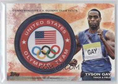 2012 Topps U.S. Olympic Team and Olympic Hopefuls Olympic Team Manufactured Patch #ULP-TG - Tyson Gay