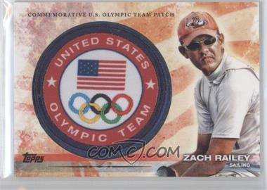 2012 Topps U.S. Olympic Team and Olympic Hopefuls Olympic Team Manufactured Patch #ULP-ZR - Zach Railey