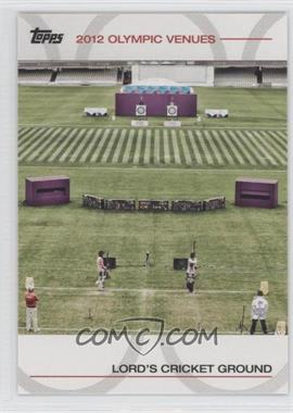 2012 Topps U.S. Olympic Team and Olympic Hopefuls Olympic Venues #SOV-15 - Lord's Cricket Ground