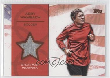 2012 Topps U.S. Olympic Team and Olympic Hopefuls Relics Bronze #OR-AW - Abby Wambach /75