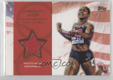 2012 Topps U.S. Olympic Team and Olympic Hopefuls Relics Bronze #OR-CJ - Carmelita Jeter /75