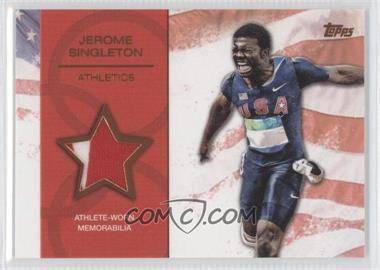 2012 Topps U.S. Olympic Team and Olympic Hopefuls Relics Bronze #OR-JS - Jerome Singleton /75