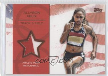2012 Topps U.S. Olympic Team and Olympic Hopefuls Relics Bronze #OR-N/A - Allyson Felix /75