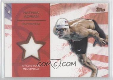 2012 Topps U.S. Olympic Team and Olympic Hopefuls Relics Bronze #OR-NA - Nathan Adrian /75