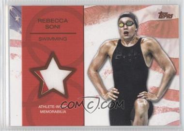 2012 Topps U.S. Olympic Team and Olympic Hopefuls Relics Bronze #OR-N/A - Rebecca Soni /75