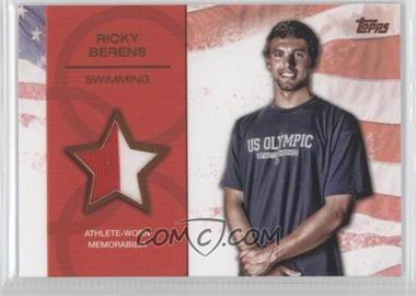 2012 Topps U.S. Olympic Team and Olympic Hopefuls Relics Bronze #OR-RB - Ricky Berens /75