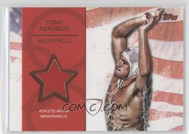 2012 Topps U.S. Olympic Team and Olympic Hopefuls Relics Bronze #OR-TA - Tony Azavedo /75