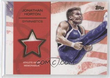 2012 Topps U.S. Olympic Team and Olympic Hopefuls Relics Gold #OR-JH - Jonathan Horton /25