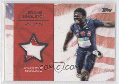 2012 Topps U.S. Olympic Team and Olympic Hopefuls Relics Silver #OR-JS - Jerome Singleton /50