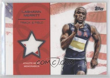 2012 Topps U.S. Olympic Team and Olympic Hopefuls Relics Silver #OR-LM - LaShawn Merritt /50