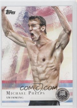 2012 Topps U.S. Olympic Team and Olympic Hopefuls Silver #100 - Michael Phelps
