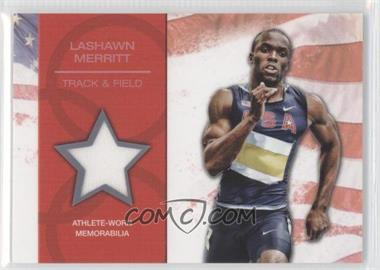 2012 Topps U.S. Olympic Team and Olympic Hopefuls U.S. Olympic Team Relic #OR-LM - LaShawn Merritt