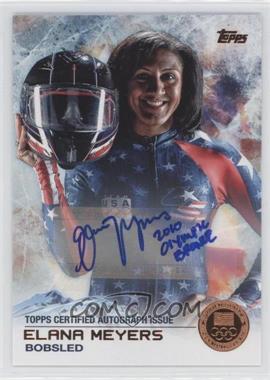 2014 Topps U.S. Olympic & Paralympic Team and Hopefuls - [Base] - Bronze Autographs [Autographed] #63 - Elana Meyers /50