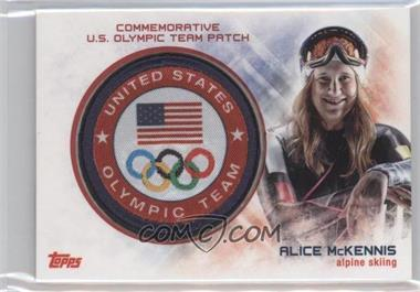 2014 Topps U.S. Olympic & Paralympic Team and Hopefuls - Commemorative U.S. Olympic Team Patch #USO-AM - Alice McKennis