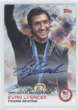 2014 Topps U.S. Olympic & Paralympic Team and Hopefuls Autographs [Autographed] #57 - Evan Lysacek