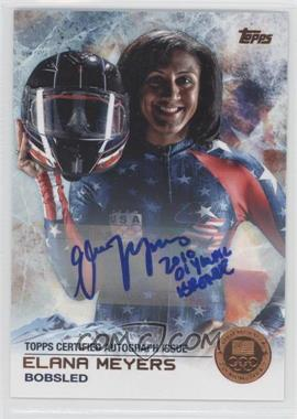 2014 Topps U.S. Olympic & Paralympic Team and Hopefuls Bronze Autographs [Autographed] #63 - Elana Meyers /50