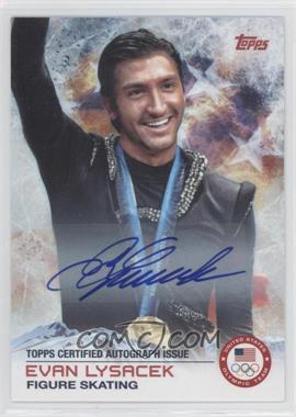 2014 Topps U.S. Olympic & Paralympic Team and Hopefuls Certified Autograph [Autographed] #57 - Evan Lysacek