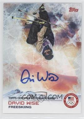 2014 Topps U.S. Olympic & Paralympic Team and Hopefuls Certified Autograph [Autographed] #94 - David Wise