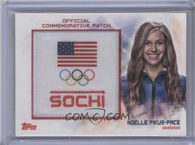 2014 Topps U.S. Olympic & Paralympic Team and Hopefuls Manufactured Sochi Patch #USP-NP - Noelle Pikus-Pace