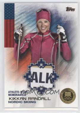 2014 Topps U.S. Olympic & Paralympic Team and Hopefuls Olympic Relics Gold #OR-KR - Kikkan Randall /25