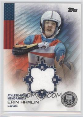 2014 Topps U.S. Olympic & Paralympic Team and Hopefuls Olympic Relics Silver #OR-EH - Erin Hamlin /50