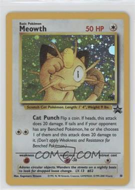 1999-2002 Pokemon Wizards of the Coast - Exclusive Black Star Promos #10 - Meowth