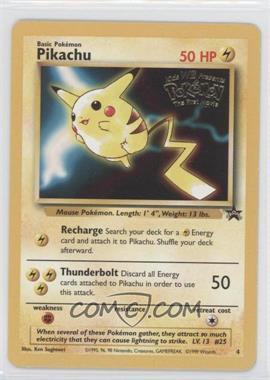 1999-2002 Pokemon Wizards of the Coast - Exclusive Black Star Promos #4 - Pikachu