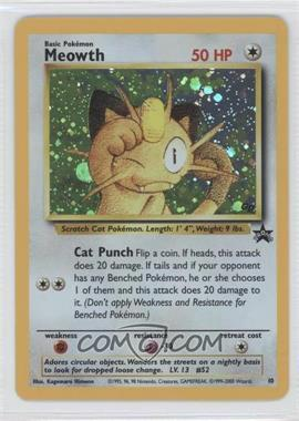 1999-2002 Pokemon Wizards of the Coast Black Star Exclusive Promos #10 - Meowth