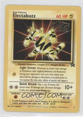 1999-2002 Pokemon Wizards of the Coast Black Star Exclusive Promos #2 - Electabuzz