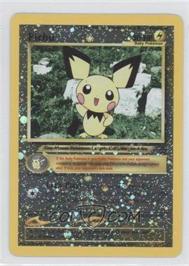 1999-2002 Pokemon Wizards of the Coast Black Star Exclusive Promos #35 - Pichu