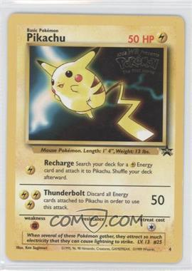 1999-2002 Pokemon Wizards of the Coast Black Star Exclusive Promos #4 - Pikachu