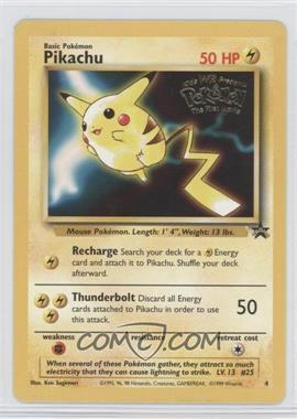 1999-2002 Pokemon Wizards of the Coast Black Star Exclusive Promos #4 - Pikachu