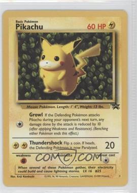 1999-2002 Pokemon Wizards of the Coast Exclusive Black Star Promos #1 - Pikachu