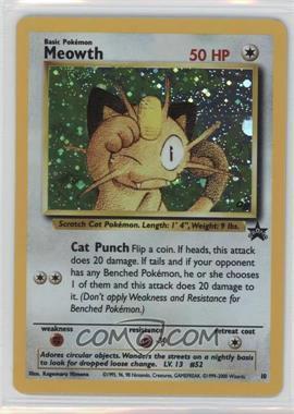 1999-2002 Pokemon Wizards of the Coast Exclusive Black Star Promos #10 - Meowth