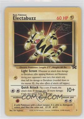 1999-2002 Pokemon Wizards of the Coast Exclusive Black Star Promos #2 - Electabuzz