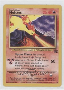 1999-2002 Pokemon Wizards of the Coast Exclusive Black Star Promos #21 - Moltres