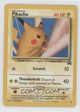 1999-2002 Pokemon Wizards of the Coast Exclusive Black Star Promos #26 - Pikachu