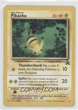1999-2002 Pokemon Wizards of the Coast Exclusive Black Star Promos #27 - Pikachu